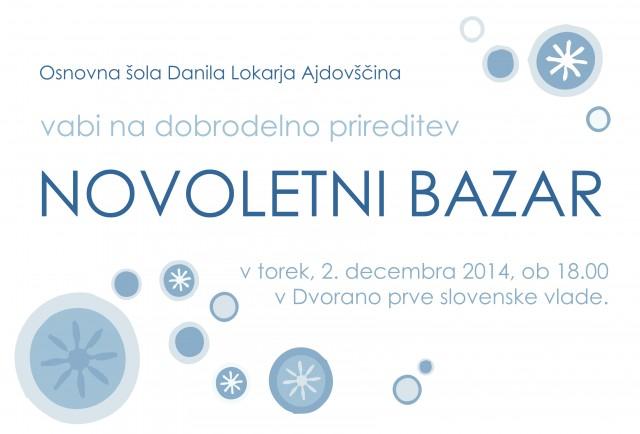 vabilo BAZAR 14-15